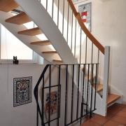 Treppe Treppenbau Schreinerei Mullers & Startz Buche Edelstahl Hehlrath007