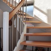 Treppe Treppenbau Schreinerei Mullers & Startz Buche Edelstahl Hehlrath006