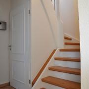 Treppe Treppenbau Schreinerei Mullers & Startz Buche Edelstahl Vorher-Nachher 01